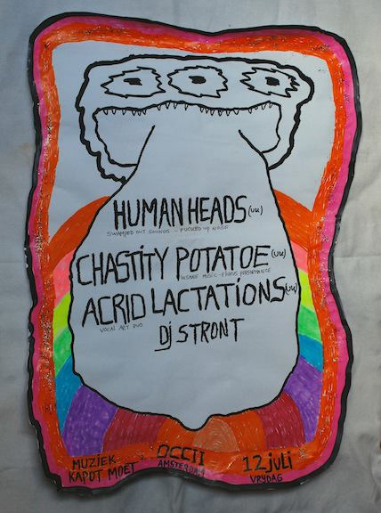 CHASTITY POTATOE (UK) + HUMAN HEADS (UK, Helhesten) + ACRID LACTATIONS (UK) + DJ STRONT