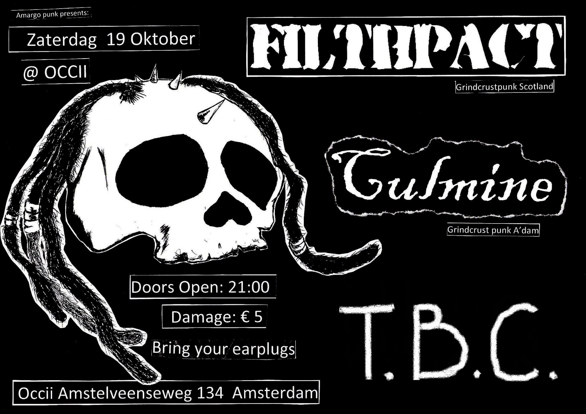 FILTHPACT (SC) + CULMINE + FUCKIN' PISSED