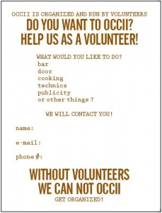 volunteer at occii