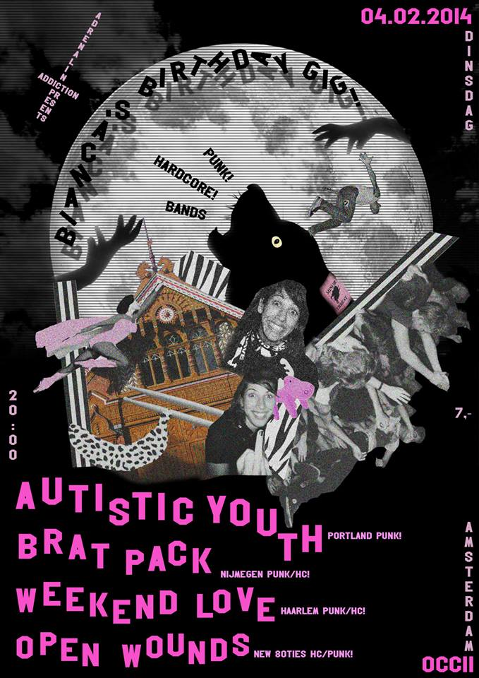 BELGRADO (es) + AUTISTIC YOUTH (us) + BRAT PACK + WEEKEND LOVE + OPEN WOUNDS + DJ Superjew!