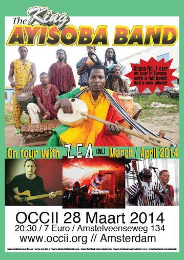 THE KING AYISOBA BAND (gh) + ZEA + OSCAR JAN HOOGLAND + DJ TPOK