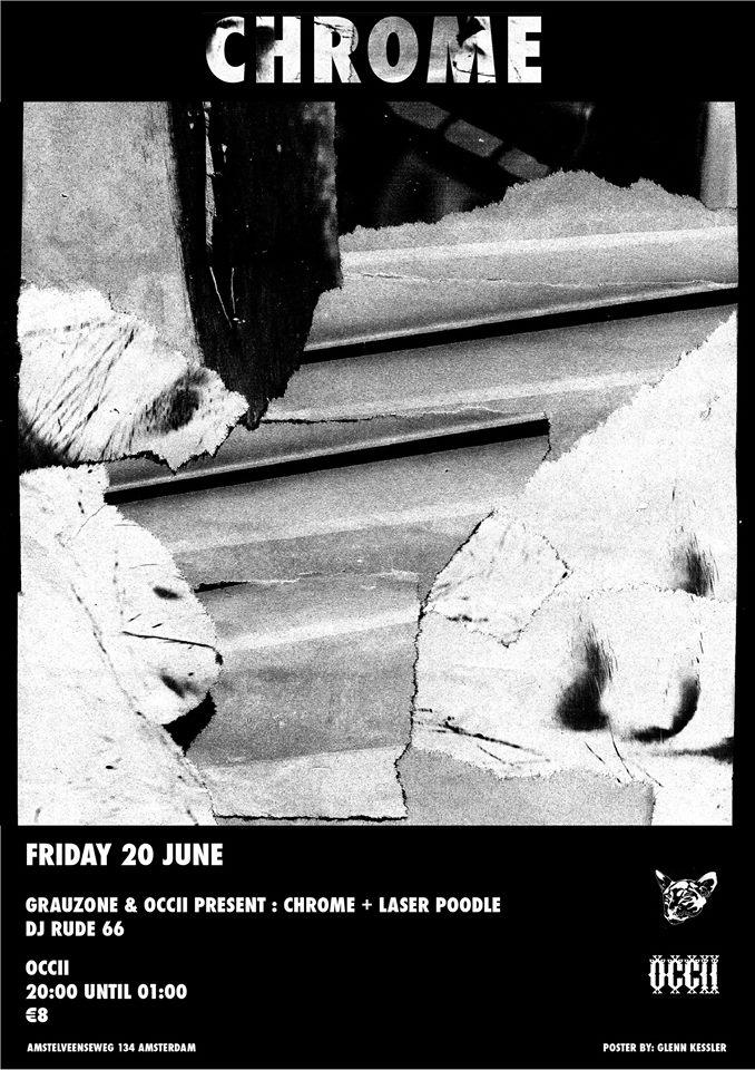 GRAUZONE presents: CHROME (us) + RUDE 66 (DJ set, Bunker Records, Creme Organization) + LASER POODLE (electronic live set)