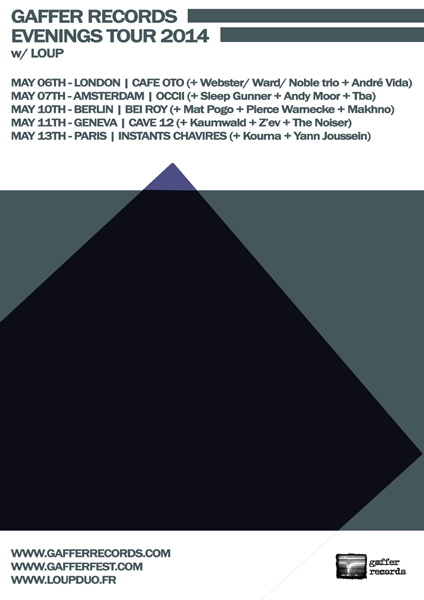 Gaffer Records 10th anniversary! -w/ LOUP (fr) + SLEEP GUNNER + DEAD NEANDERTHALS