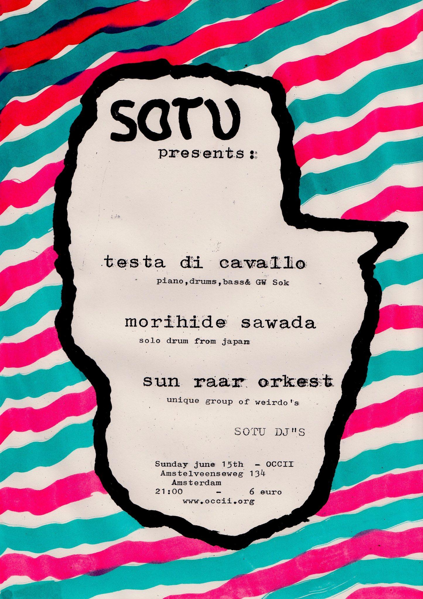 MORIHIDE SAWADA (jp) + TESTA DI CAVALLO (ch) ft. G.W. SOK +  SUN RΔΔR ORKEST (Δ*dam) + SOTU DJ's