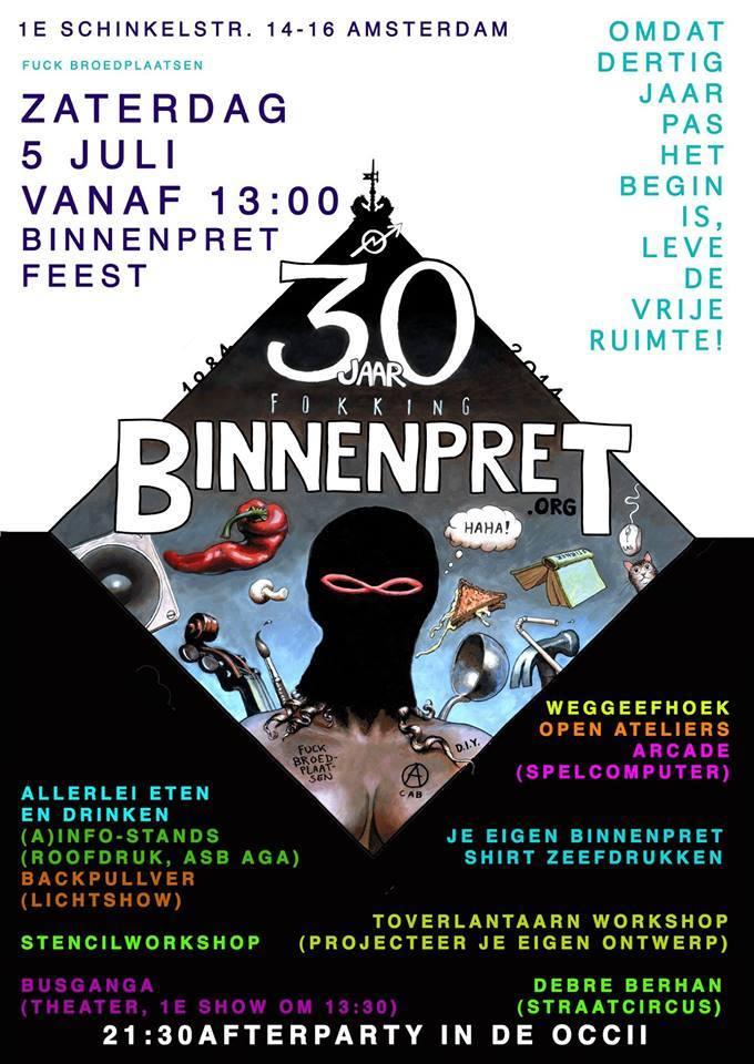 30 Years Binnenpret Afterparty! w/ FENDIKA (eth) + CIRCUS DEBRE BERHAN (eth) + DJ TERRIE EX & Guests