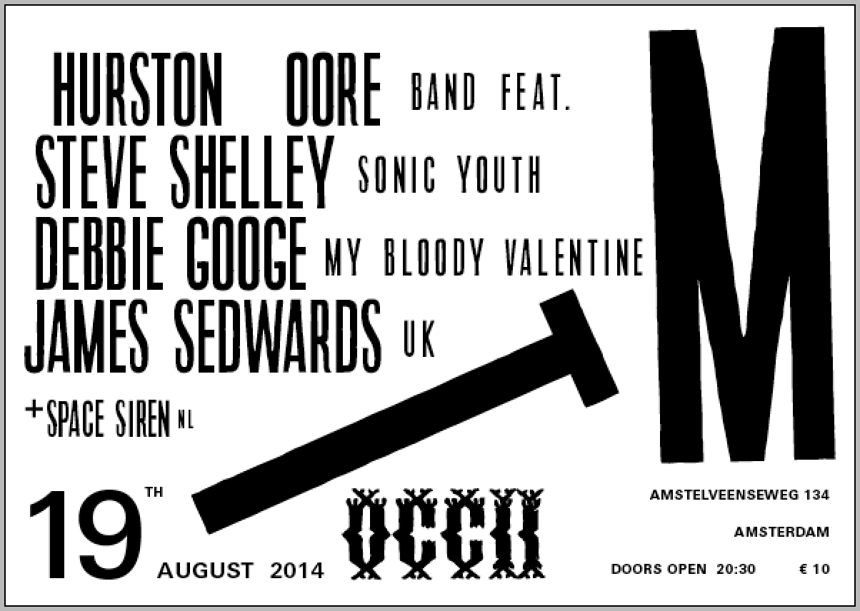 THURSTON MOORE Band Feat. STEVE SHELLEY (Sonic Youth), DEBBIE GOOGE (My Bloody Valentine), JAMES SEDWARDS (uk) + SUPPORT ACT: Space Siren