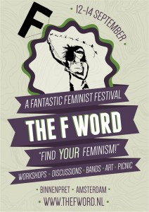 THE F-WORD A FANTASTIC FEMINIST FESTIVAL 12-14 SEPTEMBER