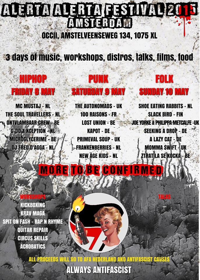 ALERTA ALERTA FESTIVAL - ANTIFASCIST BENEFIT - 3 DAYS OF PUNK, FOLK AND HIPHOP