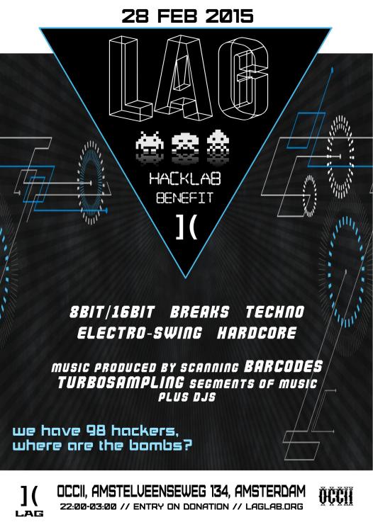 Hackers & Bombs - ]LAG( Benefit -w/ Barcode DJs (SK) + Turbosampler (SK) + DJ mark reckless MP feat. MC Enoch P