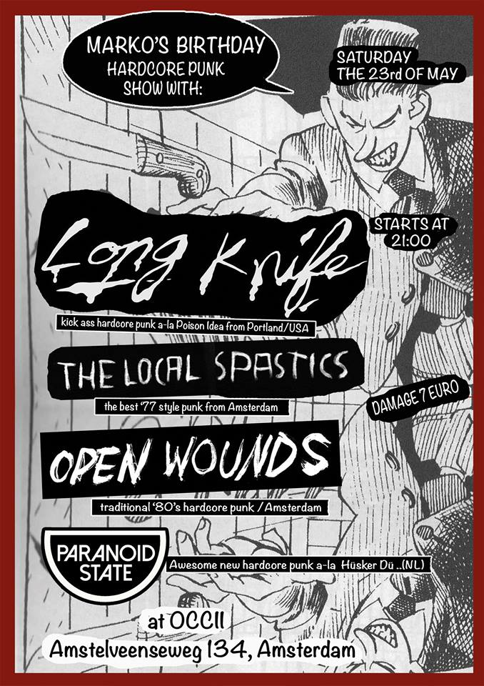 LONG KNIFE (Portland, US) + OPEN WOUNDS + THE LOCAL SPASTICS + PARANOID STATE