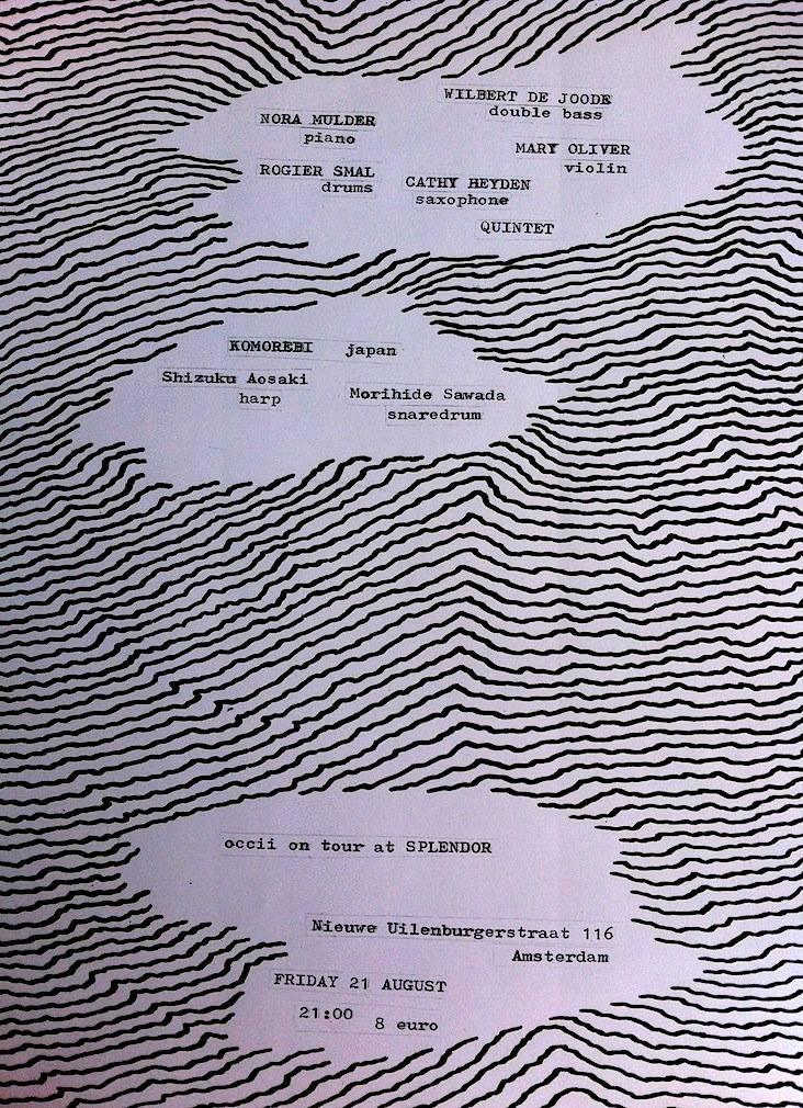 MULDER, DE JOODE, OLIVER, HEYDEN, SMAL QUINTET + KOMOREBI (jp) + DATNAPOKU [DJ]