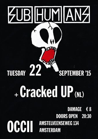 !!! CANCELLED>> Subhumans + Cracked Up <<CANCELLED!!!