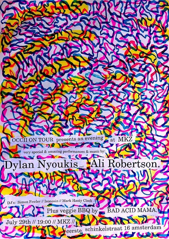 "DUO DYLAN NYOUKIS & ALI ROBERTSON (uk) + SIMON FOWLER (uk) + DJ DUO ""One DJ Won't Do"" + BAD-ACID-MAMA's BBQ"