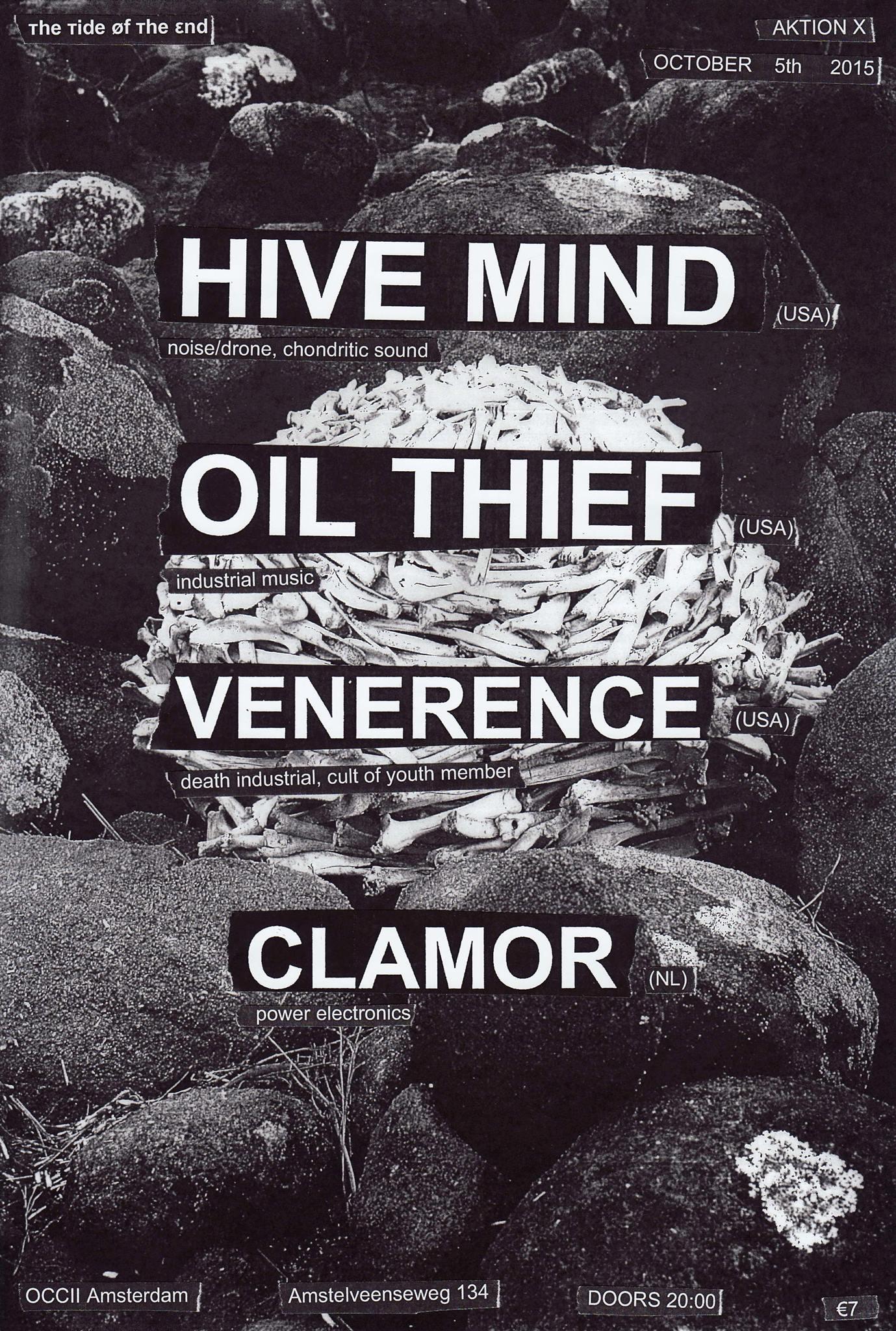 [ттøтε] AKTION X -w/ HIVE MIND (us) + OIL THIEF (us) + VENERENCE (us) + CLAMOR