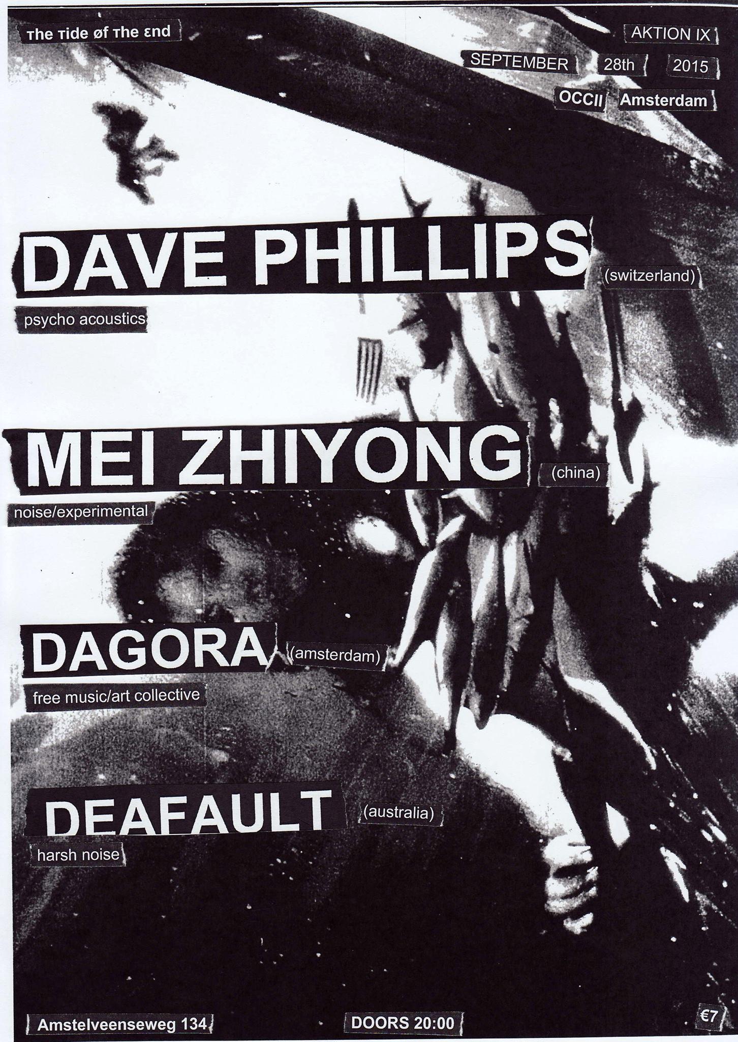 [ттøтε] AKTION IX -w/ DAVE PHILLIPS (ch) + MEI ZHIYONG (cn) + DAGORA + DEAFAULT (au)