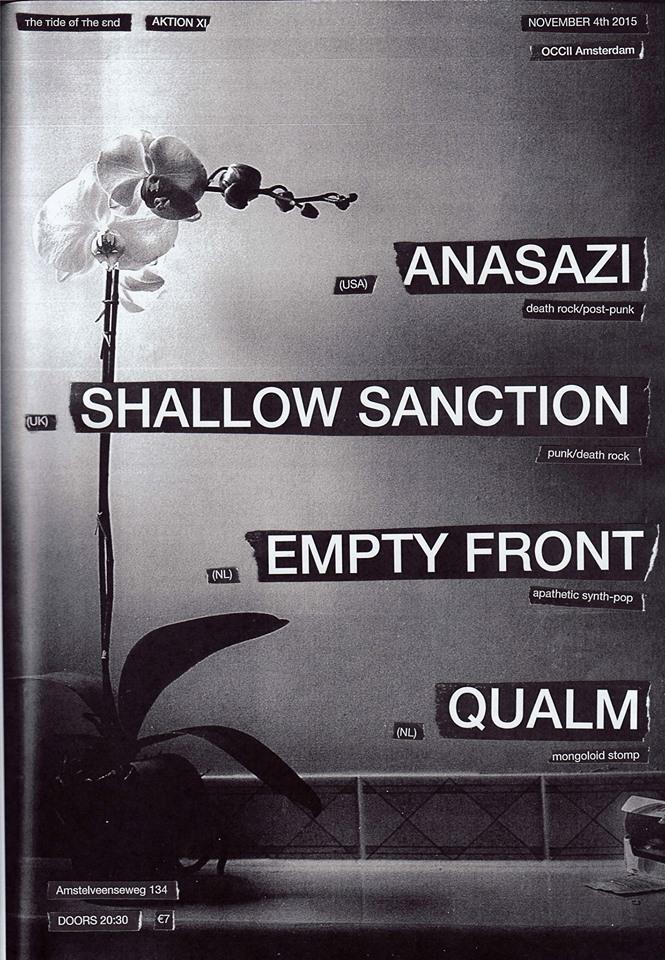 [ттøтε] AKTION XI : ANASAZI (US) + EMPTY FRONT + QUALM