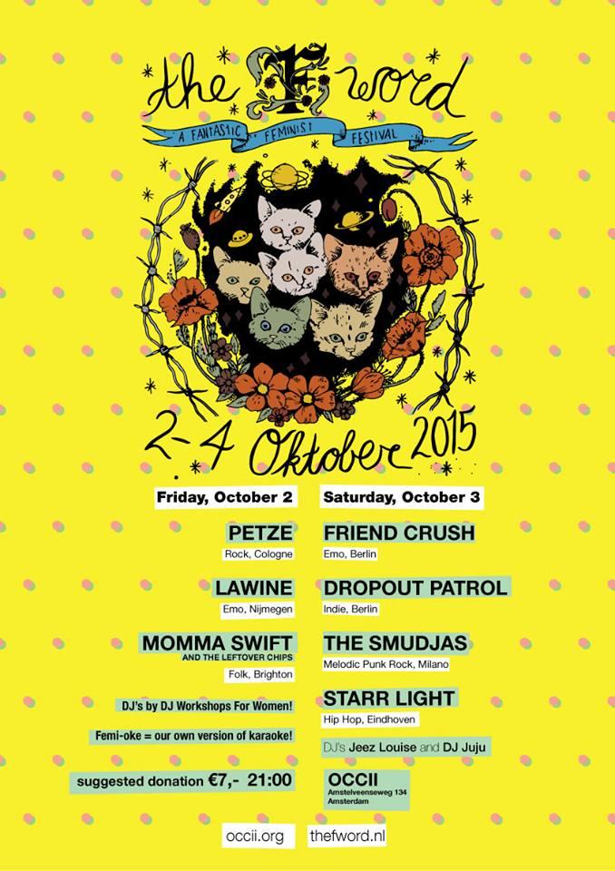 The F-WORD FEST -w/ FRIEND CRUSH (de) + DROPOUT PETROL (de) + THE SMUDJAS (it) + STARR LIGHT + DJ's Jeez Louise & Juju