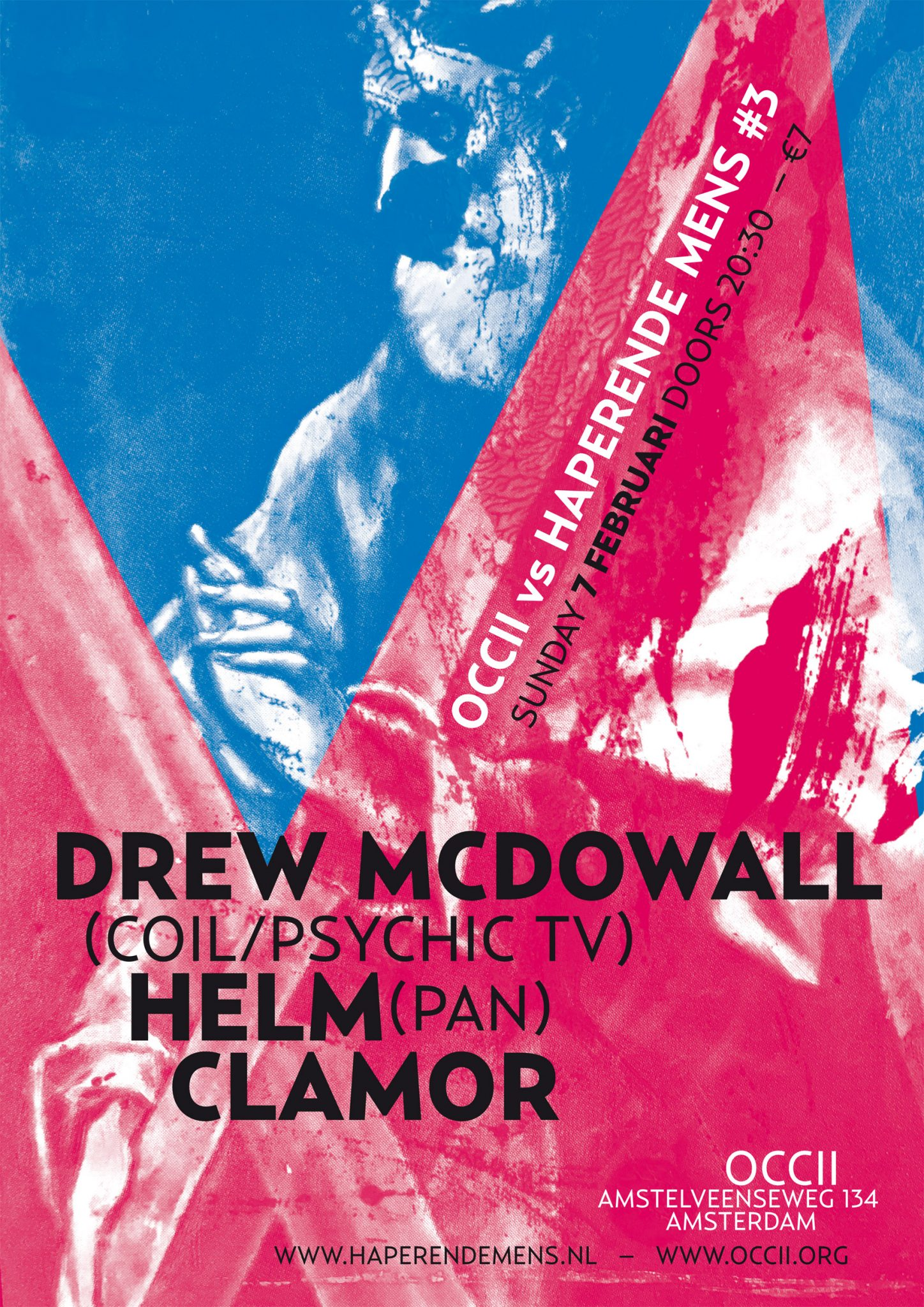 HAPERENDE MENS SERIES #3 w/ DREW McDOWALL (Coil/Psychic TV) + HELM (uk) + CLAMOR
