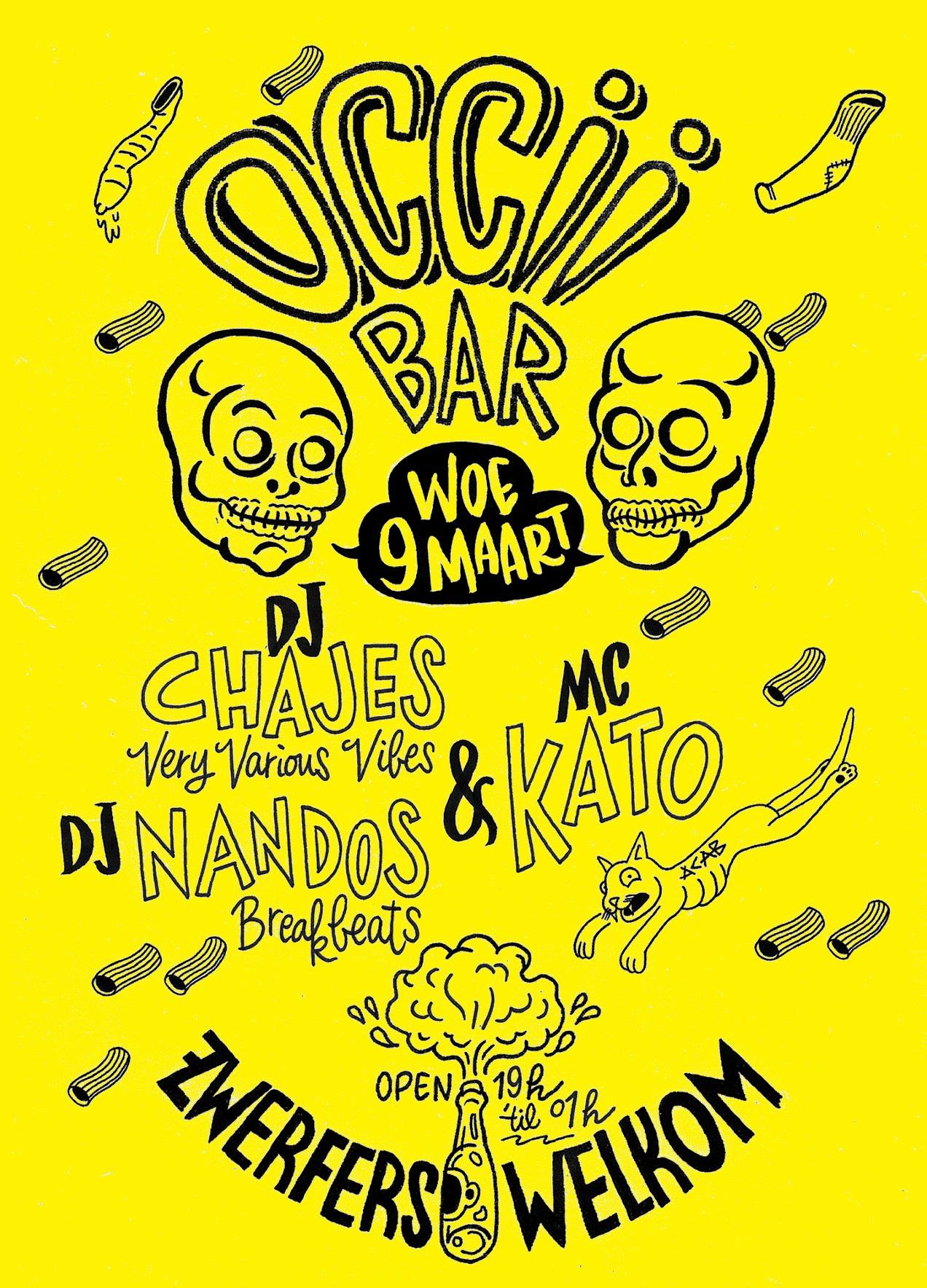 OCCII BAR NIGHT w/ DJ CHAJES + DJ NANDOS & MC KATO