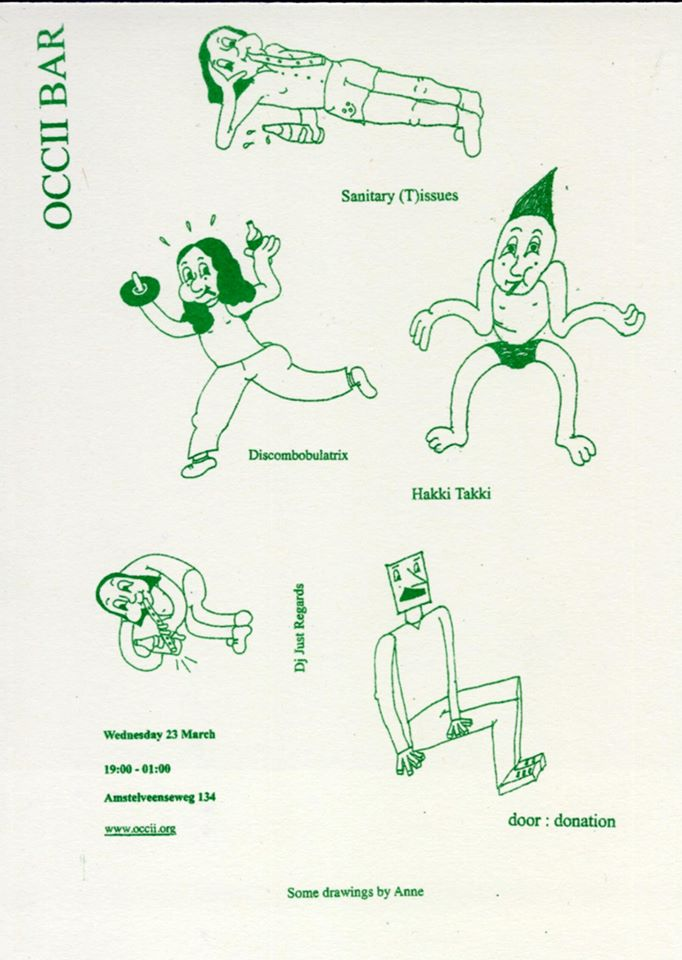 OCCII BAR - Cosmic Disco Lounge -w/ SANITARY (T)ISSUES + DISCOMBOBULATRIX (fr) + HAKKI TAKKI + DJ JUST REGARDS