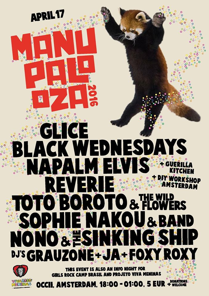 MANUPALOOZA w/ GLICE + BLACK WEDNESDAYS + TOTO BOROTO & THE WILD FLOWERS + RÊVERIE + NAPALM ELVIS + SOPHIE NAKOU & BAND + NoNo & the Sinking Ship + DJ's GRAUZONE, JA & FOXY ROXY
