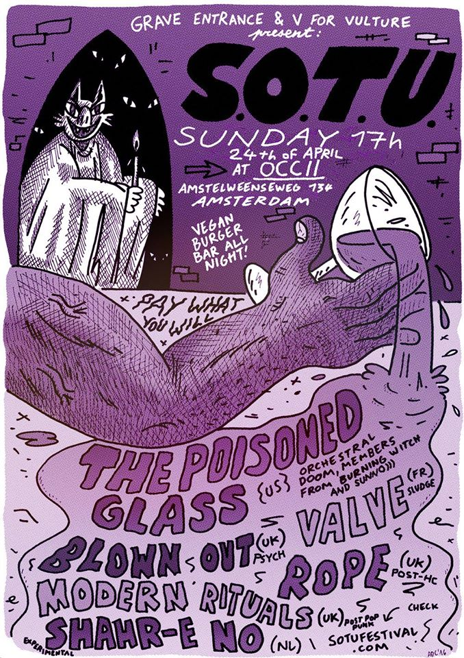 THE POISONED GLASS (us, Edgy59 &  G.Stuart Dahlquist ) + BLOWN OUT (uk, Mike Vest) + VALVE (fr) + ROPE (uk) + MODERN RITUALS (uk) + SHAHR-E NO