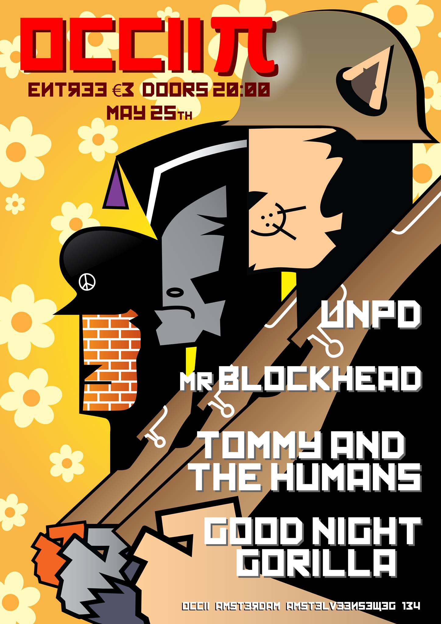OCCII PI w/ UNPD + TOMMY AND THE HUMANS + GOOD NIGHT GORILLA + MR BLOCKHEAD