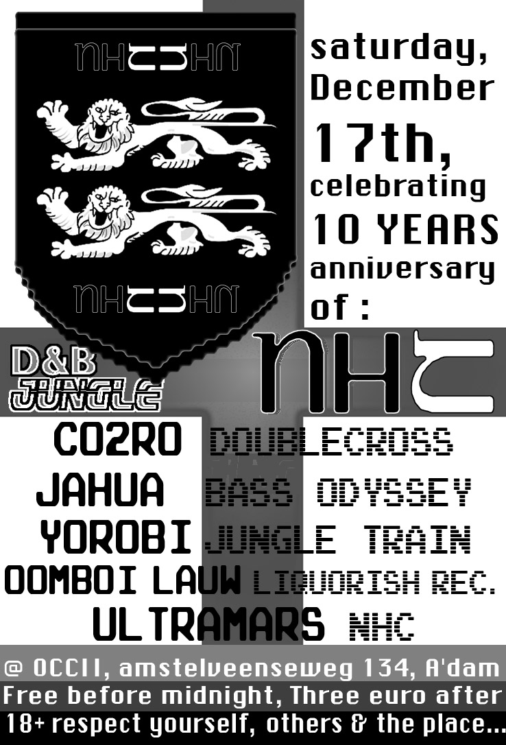 10 years of NHC presents: CO2RO + JAHUA + JOROBI + OOMBOI LAUW + ULTRAMARS