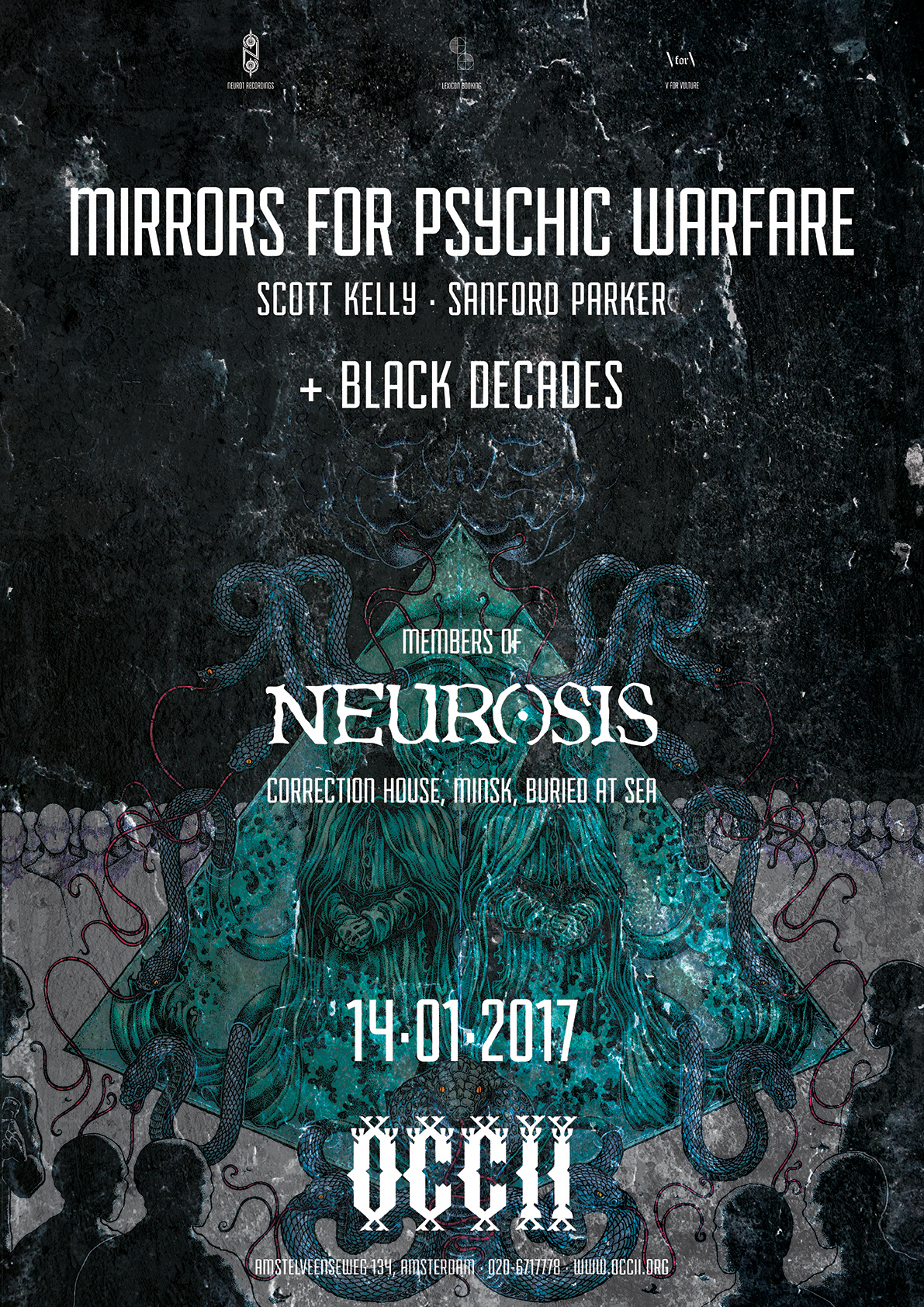 MIRRORS FOR PSYCHIC WARFARE (Scott Kelly // Neurosis & Sanford Parker, US) + BLACK DECADES