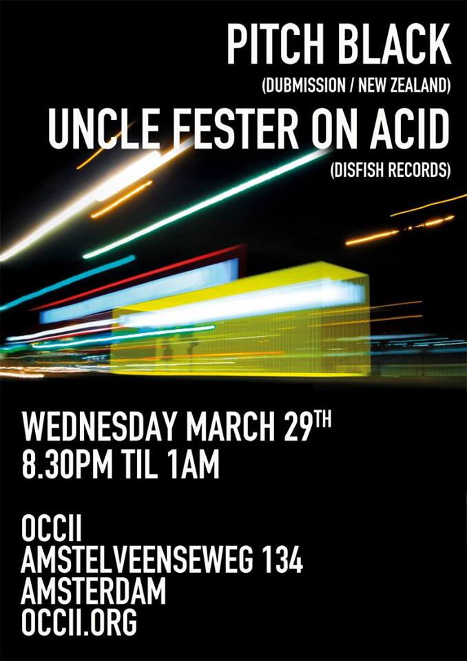 Disfish Records presents: PITCH BLACK (NZ) + Uncle Fester On Acid  + DJ Fictive Person