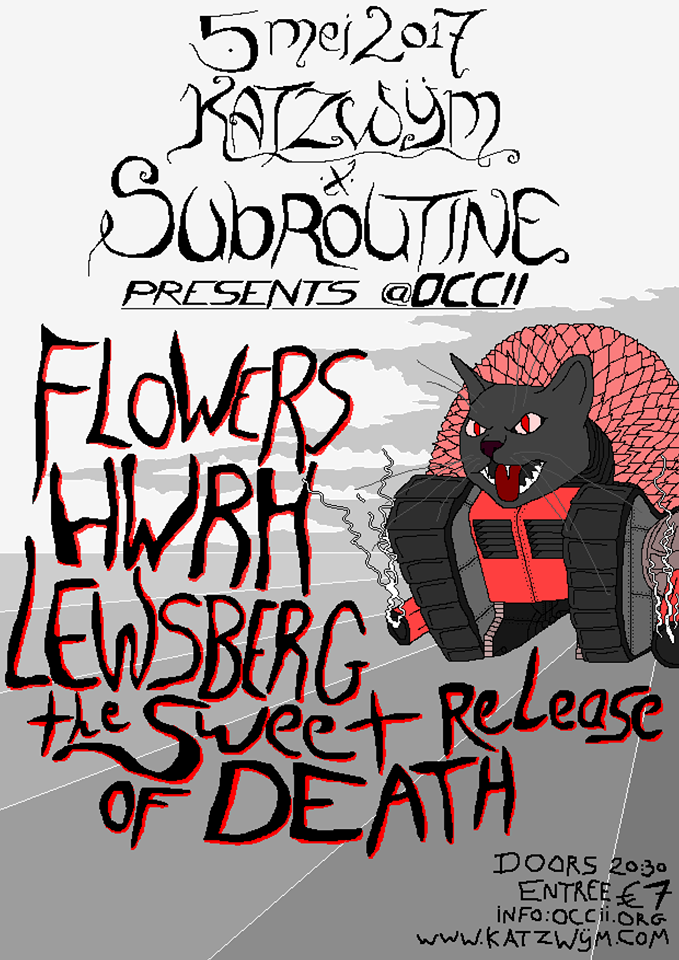 FLOWERS + HWRH + LEWSBERG + THE SWEET RELEASE OF DEATH + APNEU DJ TEAM