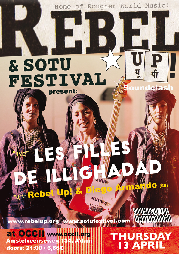 LES FILLES DE ILLIGHADAD (NE, Sahel Sounds) + DJ SEBCAT (REBEL UP!) & DJ DIEGO ARMANDO (ES)