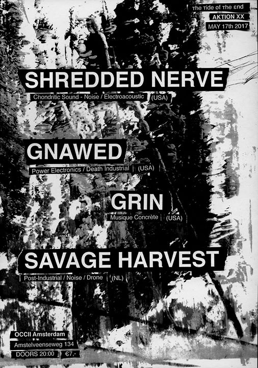 [ттøтε] AKTION XX w/ SHREDDED NERVE (US) + GNAWED (US) + GRIN (US) + SAVAGE HARVEST