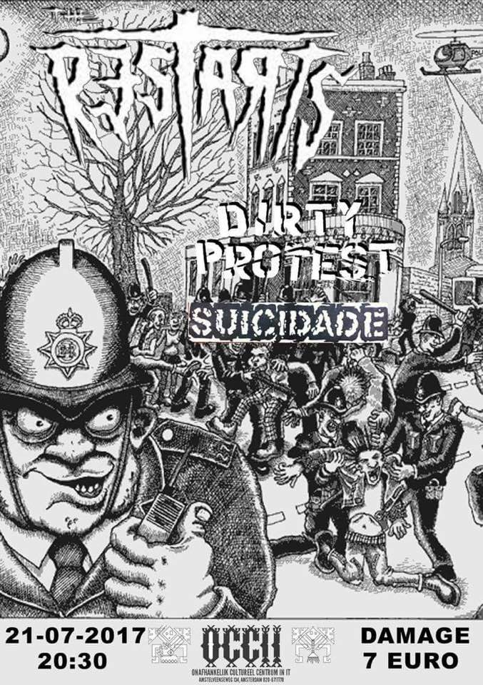 THE RESTARTS (UK) + DIRTY PROTEST + SUICIDADE