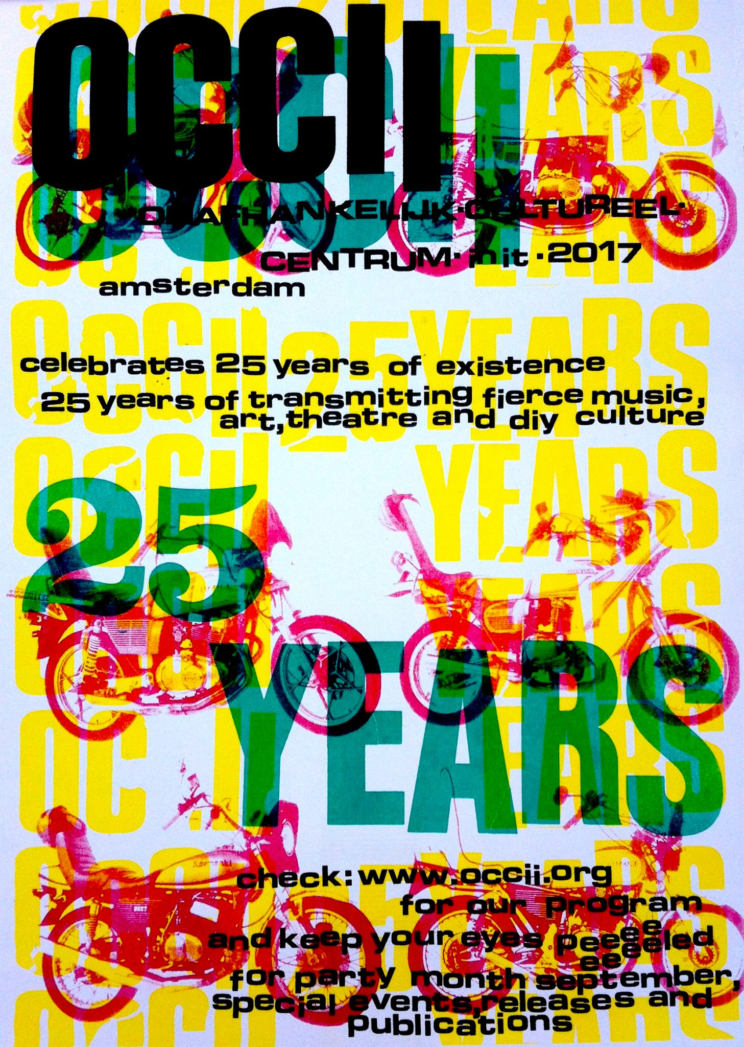 OCCII XXV: Seminal Amsterdam venue OCCII turns 25! w/  Alexander Hacke (Einstürzende Neubauten), The Dwarfs of East Agouza (EG), Siege (US), The Ex (NL), Minami Deutsch  (JP) & Mike Watt (US) and MANY more.