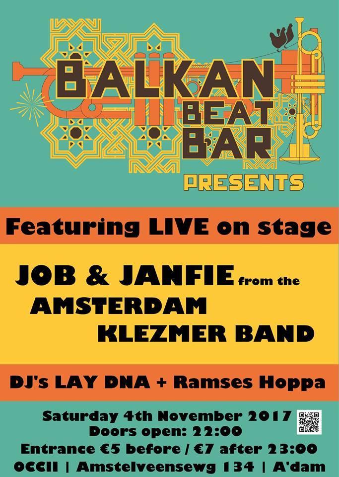 BALKAN BEAT BAR ft. Job & Janfie (Amsterdam Klezmer Band) + DJs LAY DNA & Ramses Hoppa