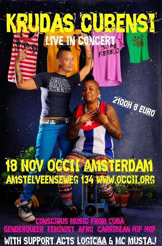 KRUDAS CUBENSI (Hip Hop Cubano) + GLORIA (Kanipchen-Fit) + Dick Kurt Riot (Performance) + DJ K-DUSHI