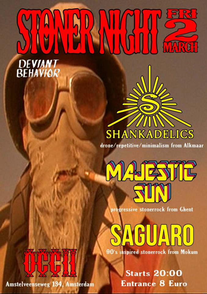 MAJESTIC SUN (BE) + SHANKADELICS + SAGUARO