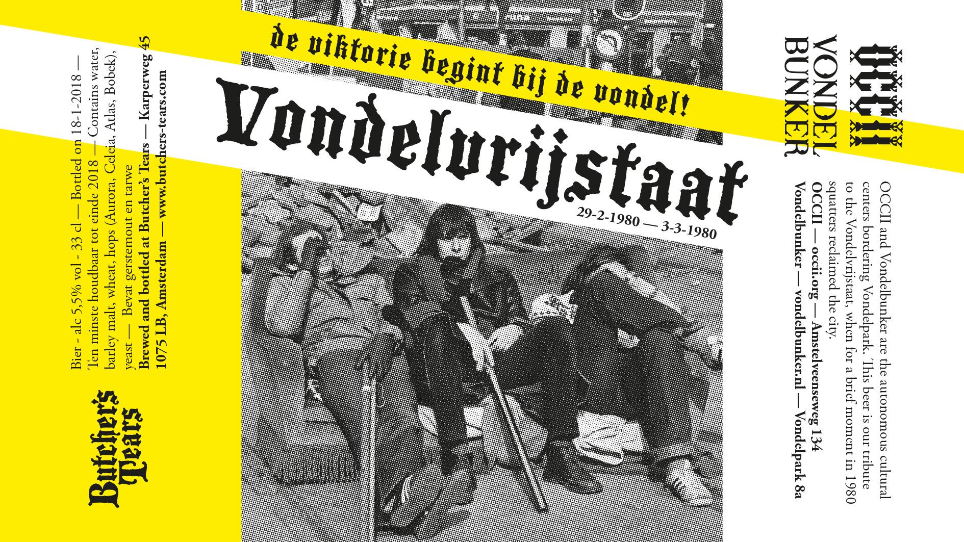 """Butcher's Tears present: """"Vondelvrijstaat"""" - De Viktorie Begint Bij de Vondel!"""