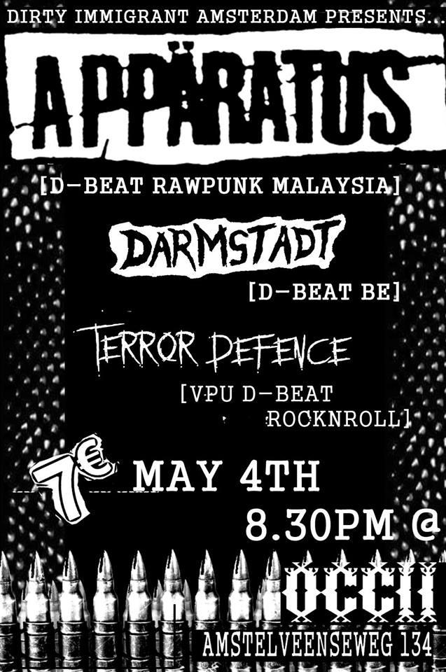 APPÄRATUS (KL, Malaysia) + DARMSTADT (BE) + TERROR DEFENCE (VPU)