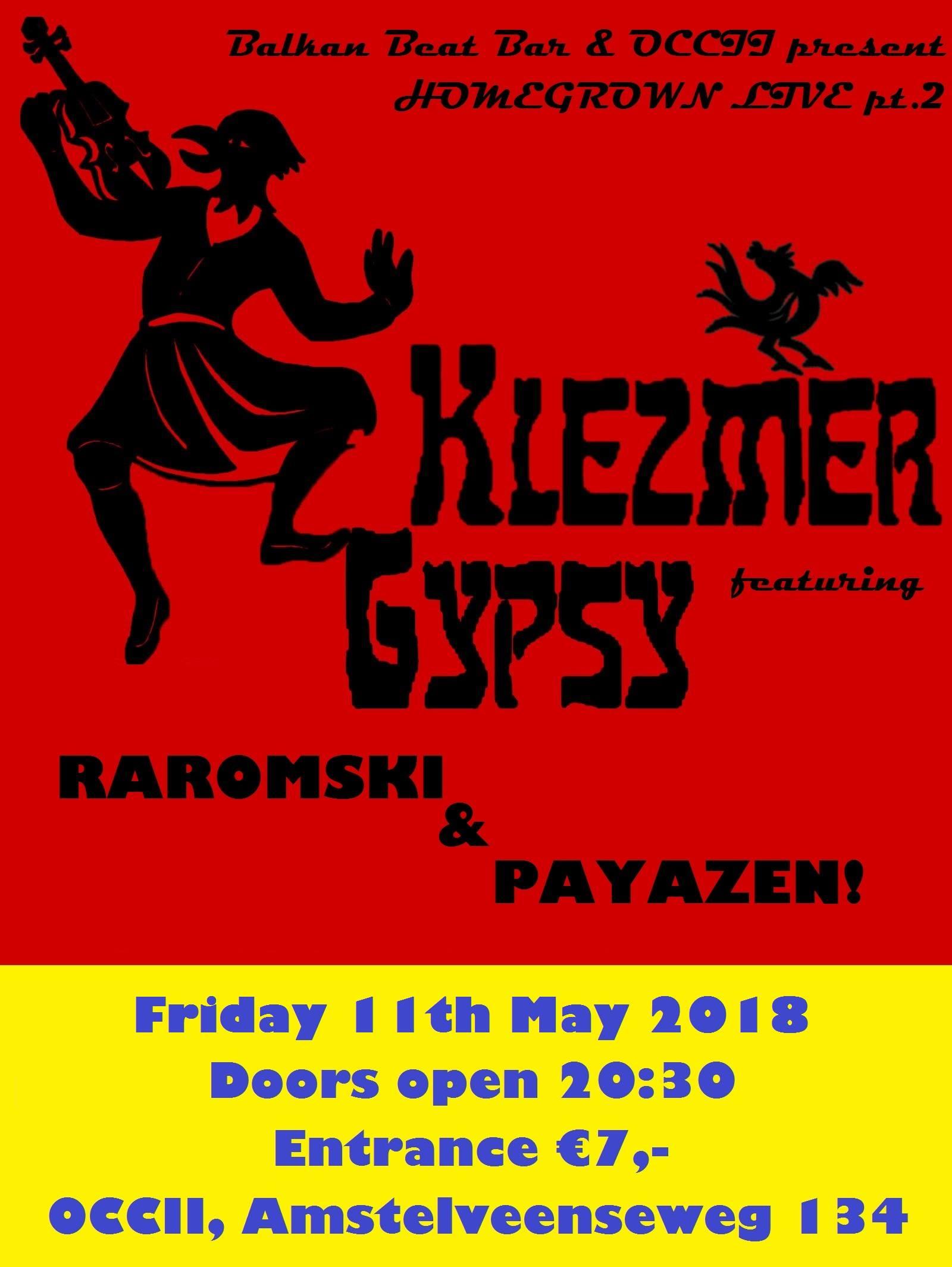 HOMEGROWN LIVE! w/ PAYAZEN + RAROMSKI + DJ RAMSES HOPPA