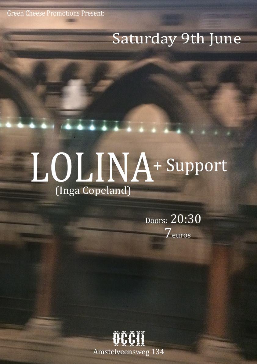 LOLINA (Inga Copeland, UK) + PALACES (US/SE) ++ ♨  (NL/DE)