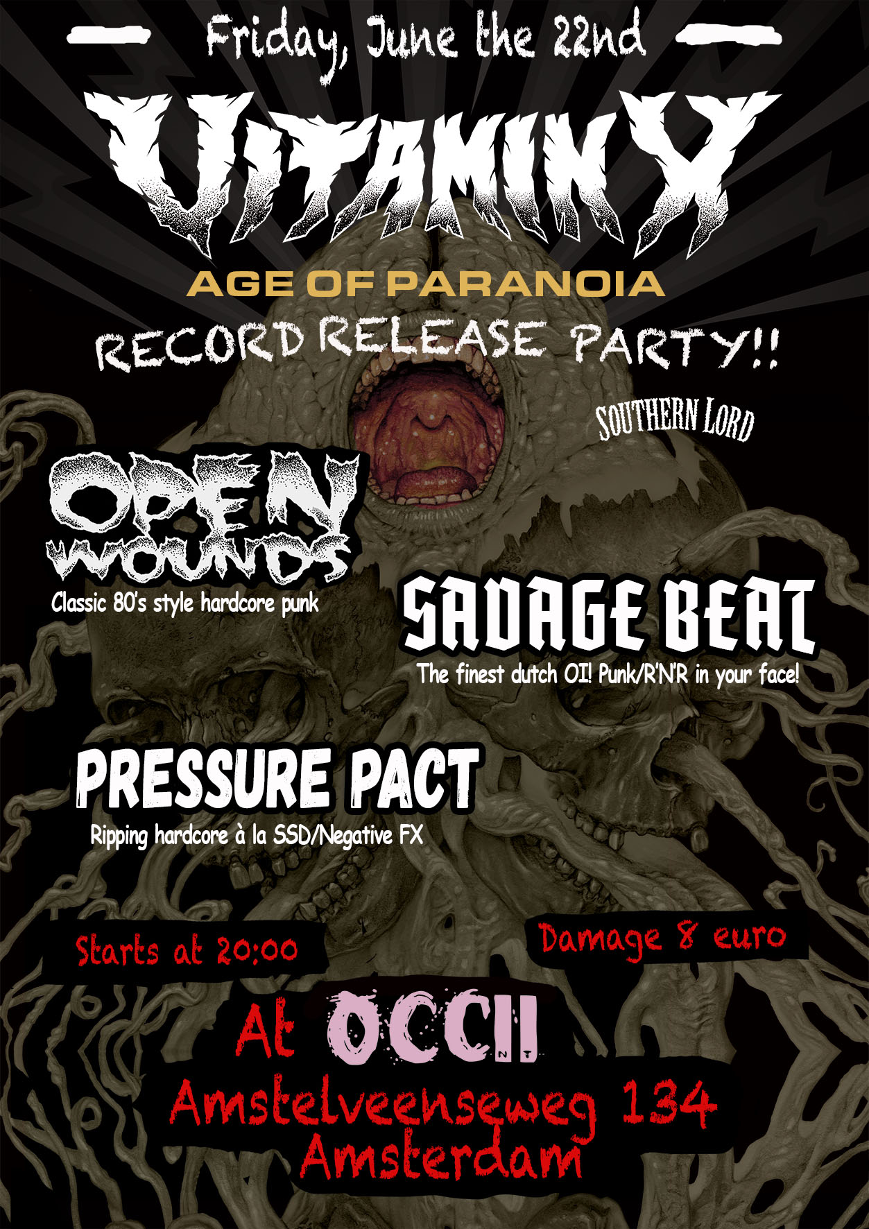 VITAMIN X + OPEN WOUNDS + SAVAGE BEAT+ PRESSURE PACT