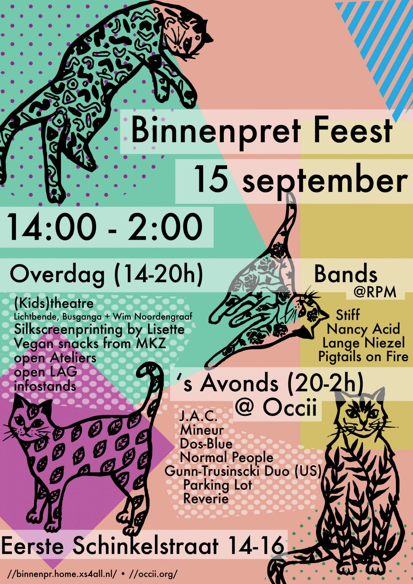 BINNENPRET FEEST w/ GUNN-TRUSCINSKI DUO (US) + PARKING LOT + RÊVERIE + PIGTAILS ON FIRE + MINEUR + J.A.C. + DOS-BLUE + STIFF + LANGE NIEZEL + ROSIE + LICHTBENDE