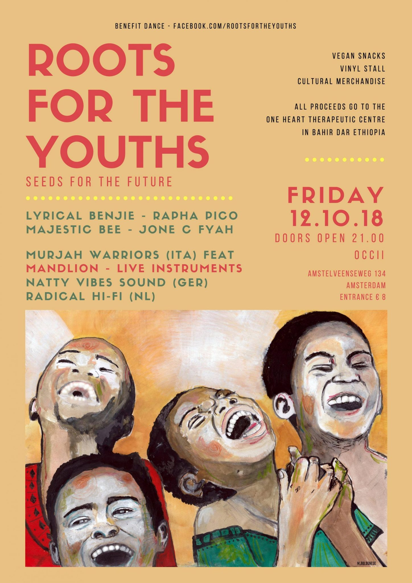 ROOTS FOR THE YOUTHS #5 w/ LYRICAL BENJIE + RAPHA PICO + JONE C FYAH + NATTY VIBES SOUND (DE) + MURJAH WARRIORS SOUND ART SYSTEM (IT) ft. MANDLION + RADICAL Hi-Fi