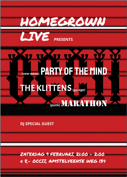 HOMEGROWN LIVE present: PARTY OF THE MIND + THE KLITTENS + MARATHON
