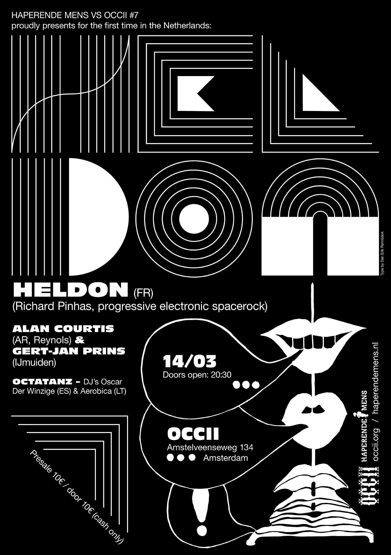 HELDON (FR, Richard Pinhas) + ANLA COURTIS (AR, Reynols) & GERT-JAN PRINS + OCTATANZ -DJ's Oscar Der Winzige (ES) & Aerobia (LT)
