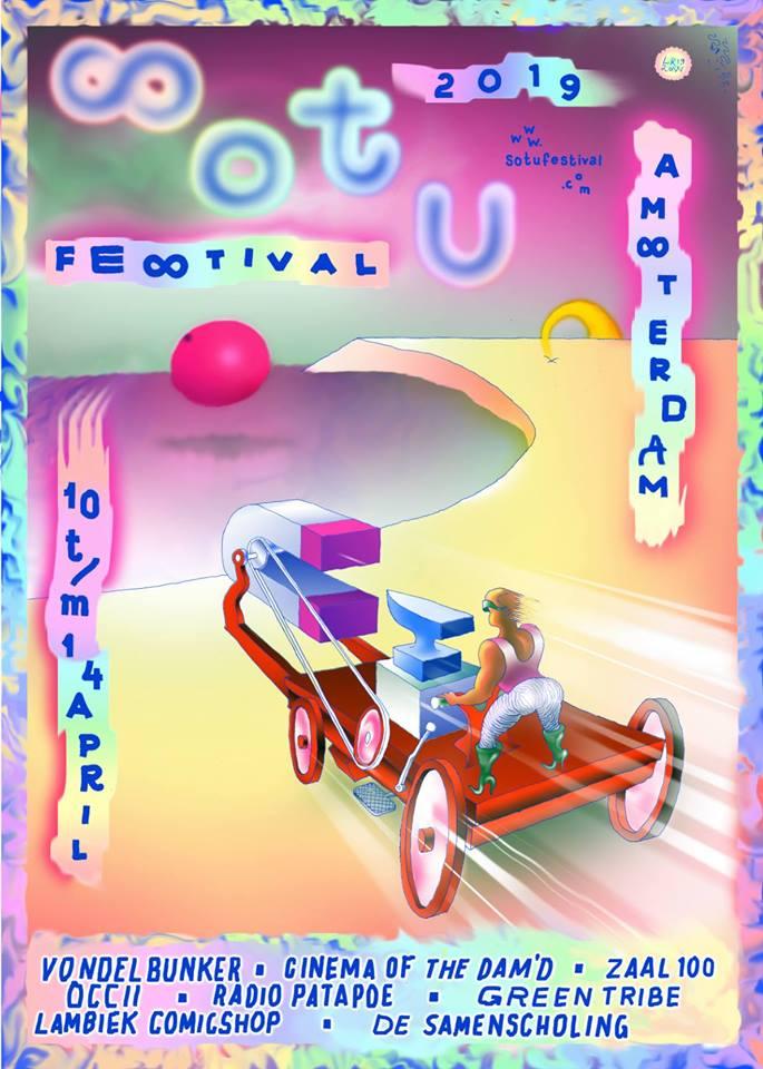 AVENTURINE + DAS SYNTHETISCHE MISCHGEWEBE & ROEL MEELKOP (DE/NL) + BOKITO HATEJAZZ ENSAMBLE +  WIDT (PL) + THE ETERNAL SUN [Jasper Stadhouders, Nora Mulder, Maria Carlas, Teun Doekes, Stephan Doyle, Luc van Weelden, Renato Ferreira, Paulo] + FILM: SPACE IS THE PLACE [USA, John Coney] + DJ SL'OCCII