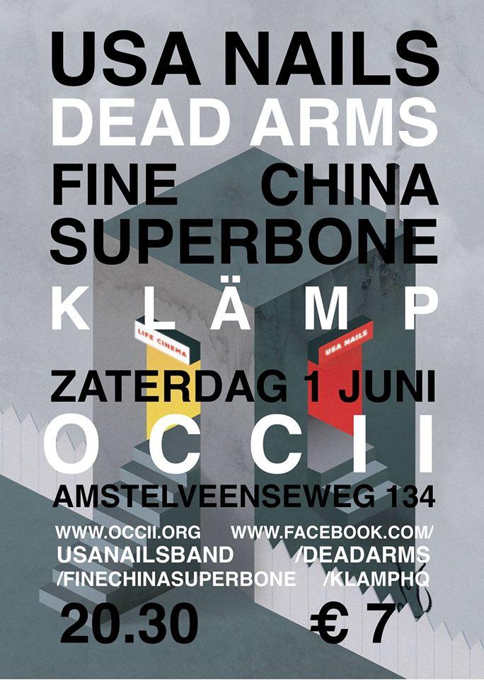 USA NAILS (UK) + DEAD ARMS (UK) + FINE CHINA SUPERBONE + KLÄMP