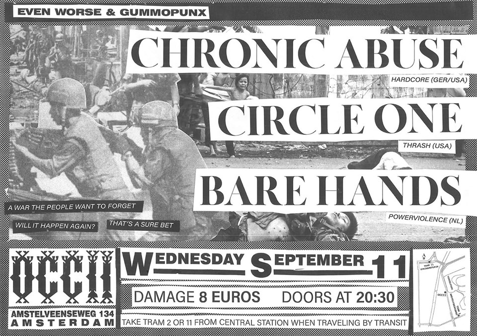 CHRONIC ABUSE (US/DE) + BARE HANDS + CIRCLE ONE (US)
